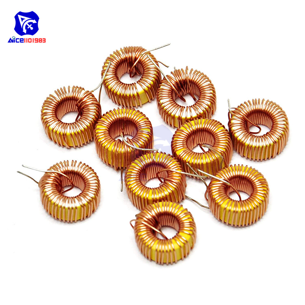 10PCS/Lot <font><b>100</b></font>μH 3A Coil Wire Wrap Toroid Magnetic Inductor Monolayer Wire Wind Wound Inductance Coil for Arduino LM2596 image