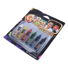 Children Party Makeup 6Colors Face Painting Pencils Splicing Structure Face Paint Crayon Christmas Body Painting Pen Stick(China)