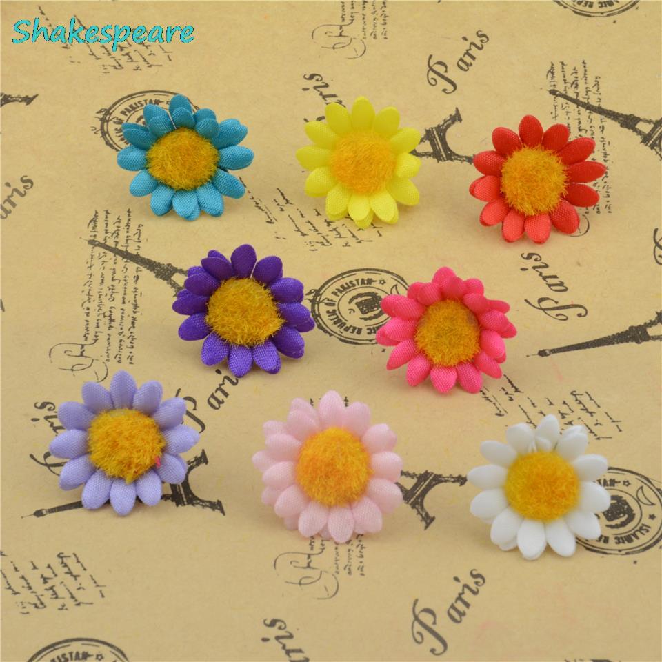 200pcslot 2cm Wholesale Silk Flash Mini Artificial Daisy Flower For