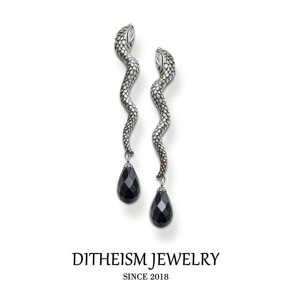 double by earrings stud deyong contemporary image sterling black sided david silver crystal