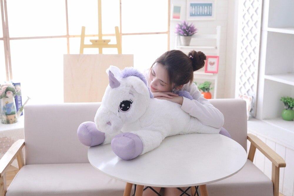 85 cm100 cm unicórnio branco brinquedos de