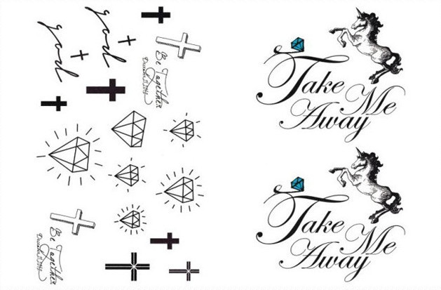 temporaire harajuku tatouage imperméable corps faux autocollants