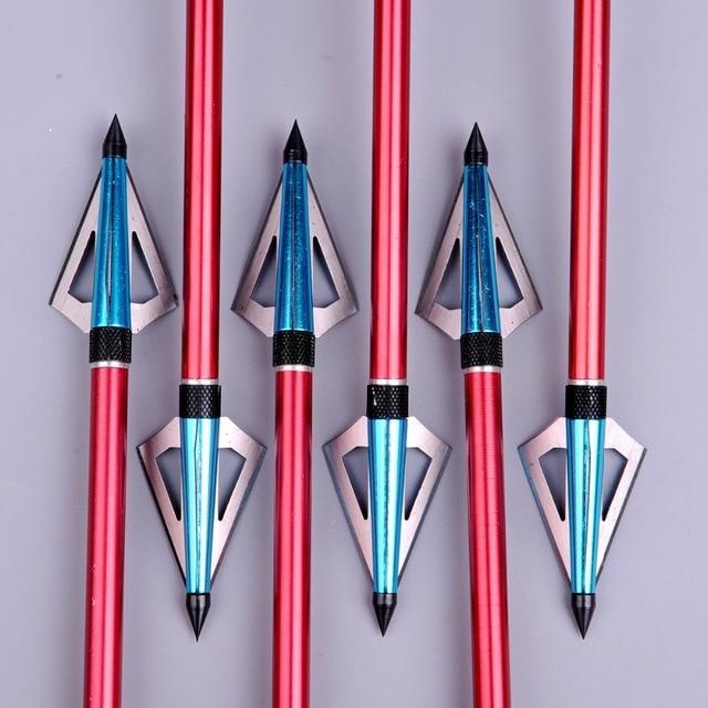 100 Grain Hunting Crossbow Arrow Broadhead with 3 Fixed Blades Used As Archery Bow And Arrow  1