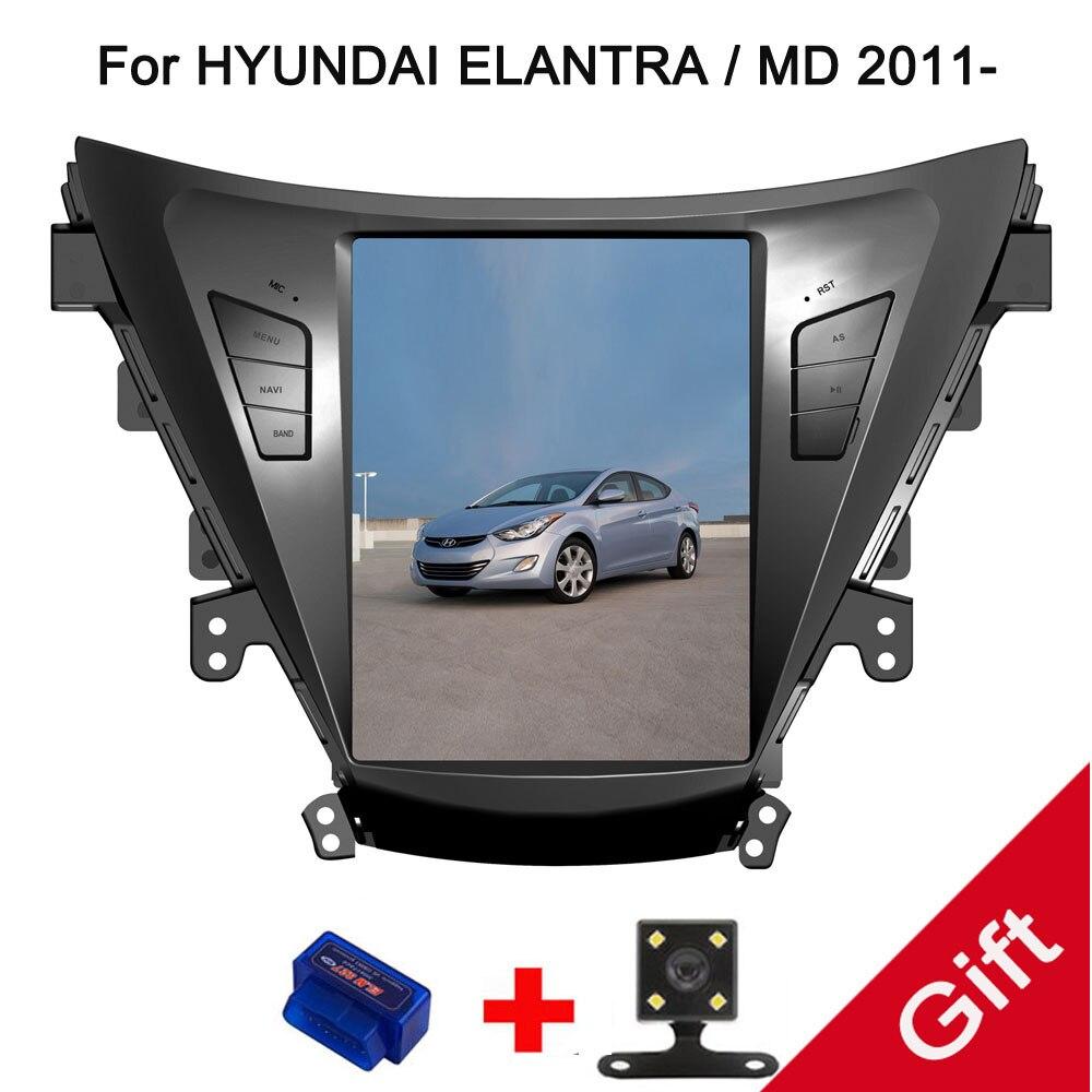 10 4 Tesla Type Android 7 1 6 0 Fit HYUNDAI ELANTRA MD 2011 2012 2013
