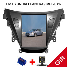 """10.4 """"Tipo di Tesla Android Fit HYUNDAI ELANTRA/MD 2011 2012 2013-Auto Lettore DVD di Navigazione GPS Radio"""