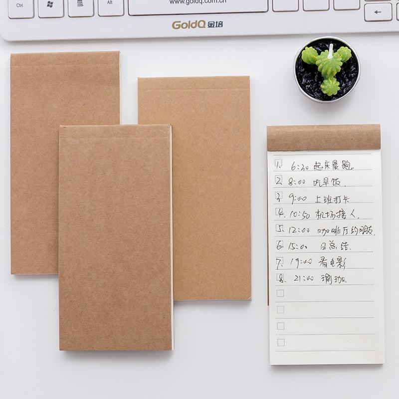 Koreański notatnik lista kontrolna notatki piśmiennicze notatnik Memopad dekoracje biurowe zakupy sprawdź do zrobienia lista Planner Tab Book School Item