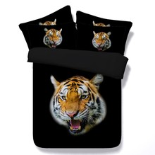 Tiger Bedding sets 3D bed cover in a bag sheet duvet covers bedspread linen California King Queen size double full twin 4PCS