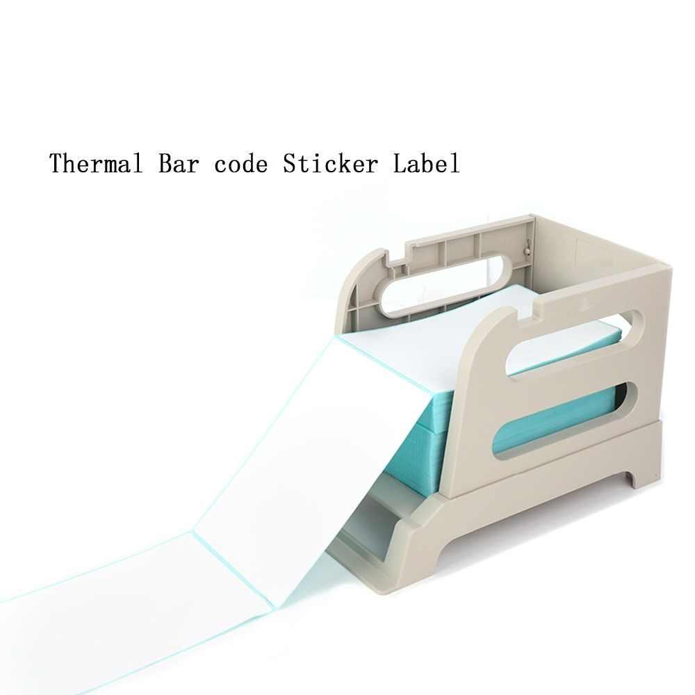 Thermal Bar Kode Pengiriman Stiker Label untuk Pengiriman Supermarket untuk Printer (4 Inch * 5.9 Inch * 500 Pcs * 1 Stack) ITLP10155 (4 Inch)