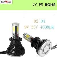 CARSUN 80W Pair G5 Auto Led Headlight For D1 D2 D3 D4 6000K White Lighting 8000Lm