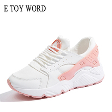 Buy E TOY WORD Women Sneakers Fashion Breathable Mesh Shoes Spring 2019 Tenis Feminino Casual Shoes Women Shoes Basket Femme directly from merchant!