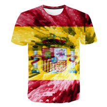 цена Brand Spanish Flag Shirt Hip Hop T Shirt Men Short Sleeve Mens Clothing Funny T shirts Print 3d Tshirt Streetwear 2019 New Shirt в интернет-магазинах