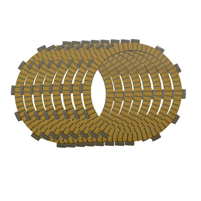 Motorcycle Clutch Friction Plates Set for Kawasaki KX250 KX 250 1992-2008 Clutch Lining 8 PCS  #CP-0009