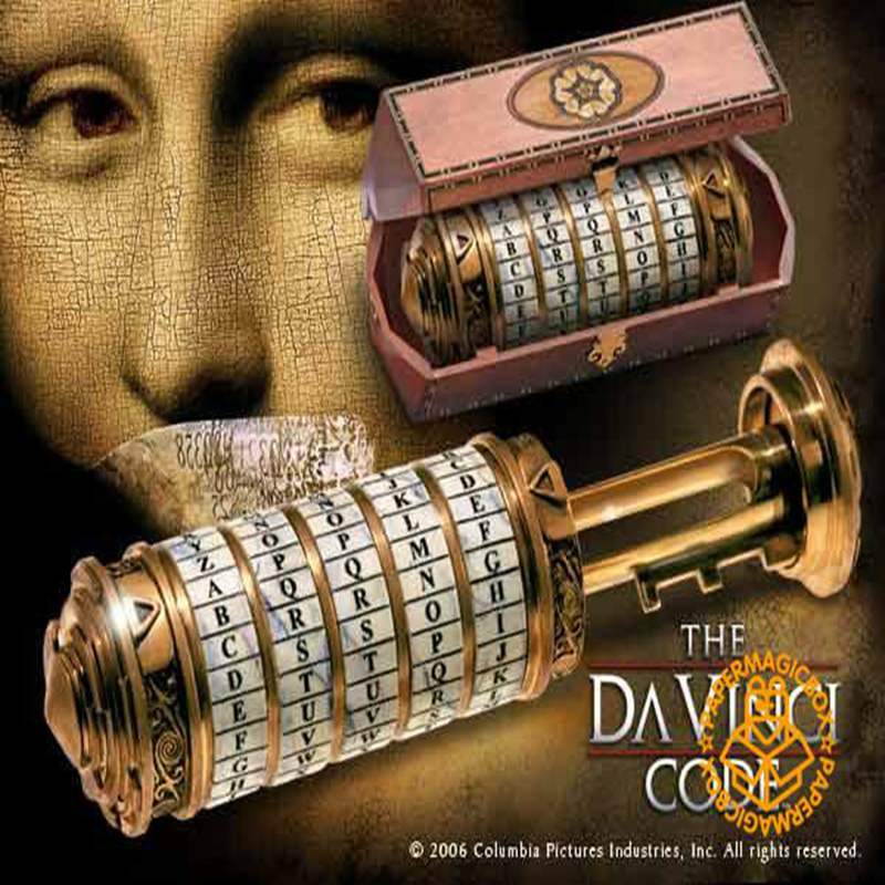Da Vinci Code lock 5 alphabetic code lock chamber tank top props storage box real game Room Escape pro Party prop Takagism game