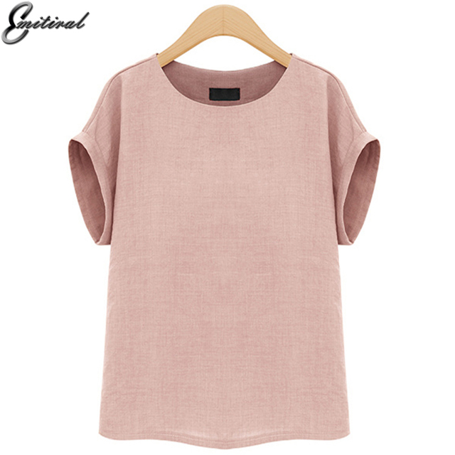 Plus Size 5XL 2017 Summer Fashion Women Shirts Simple Short Sleeves Female Blouses Casual Loose Tunic Ladies Tops Office Blusas
