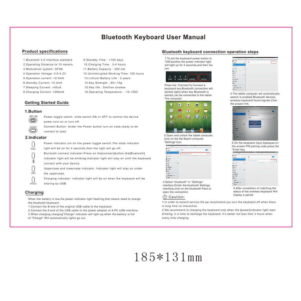 Bluetooth Keyboard+PU Leather Case Stand Flip for Huawei Mediapad M5/M5 Pro  10 8Inch XR649