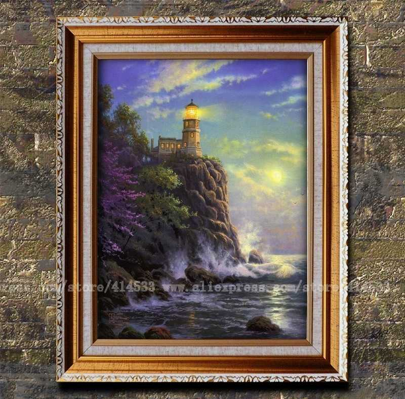 Prints Thomas Kinkade Oil Painting Split Rock Light