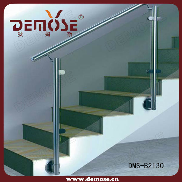 Interior Stair Glass Railing Prices Glass Railing Clamp Glass   Glass Stair Railing Cost   Living Room   Glass Balustrade   Simple   Grill   Glass Wood Combined