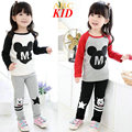 Cartoon Mickey Clothing Set Boys Girls Tracksuit Long Sleeve Shirt + Pants Cotton Tops Shirts Kids Clothes Girls Legging KD246