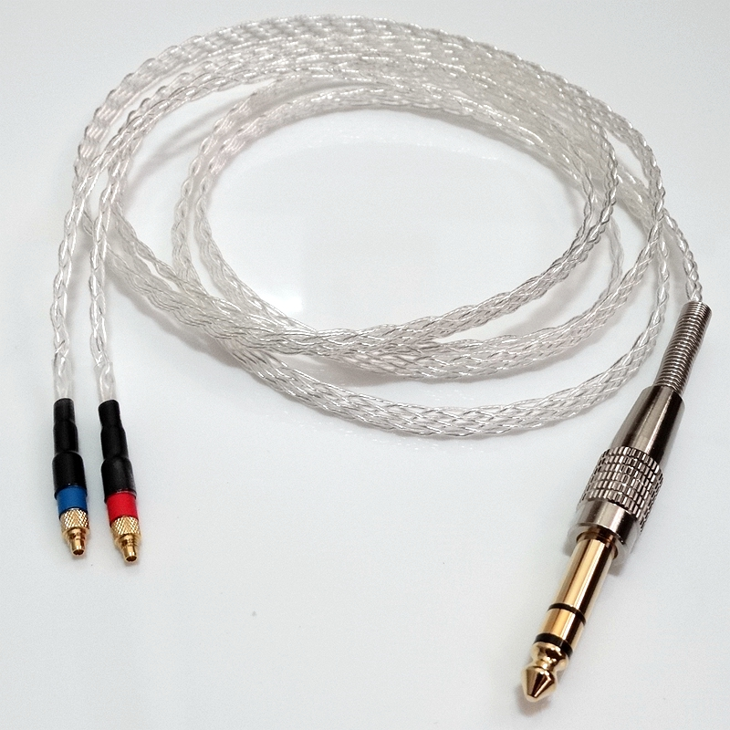 2Meter 8 core 5N OCC Flat braid Silver plated Headphone Upgrade Cable For SRH1840 SRH1540 SRH1440 hd650 hd600 hd580 hd525 headphone upgrade cable occ silver plated