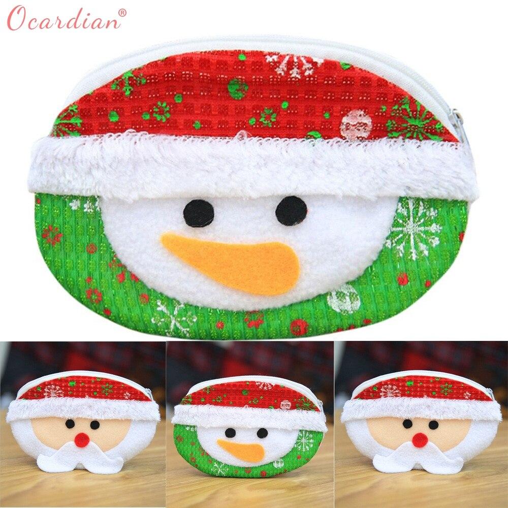 Christmas Candy Bag Cute Coin Purse Handbag Money Change Card Holder Purses Small Wallet Bag Holiday Bags Dropshipping 2940 Coin Purses & Holders