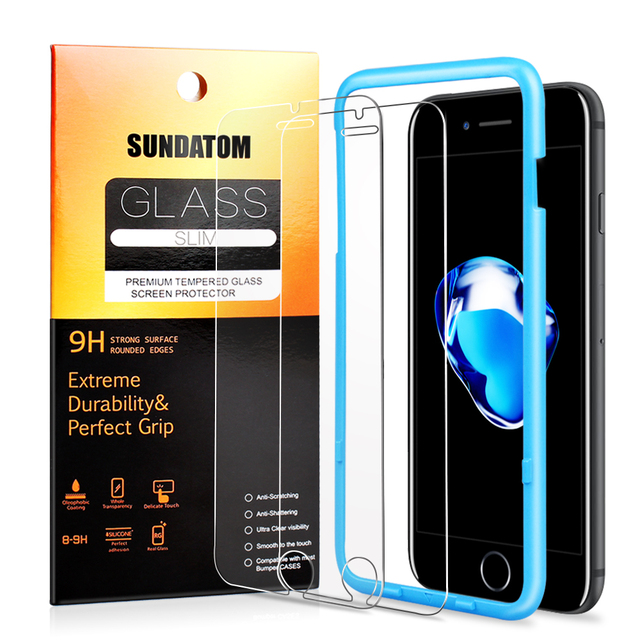 Tempered Glass Screen Protector for iPhone 6 6S 7 Plus 6Plus Explosion Proof HD Clear Glossy No Fingerprint Anti-glare Film
