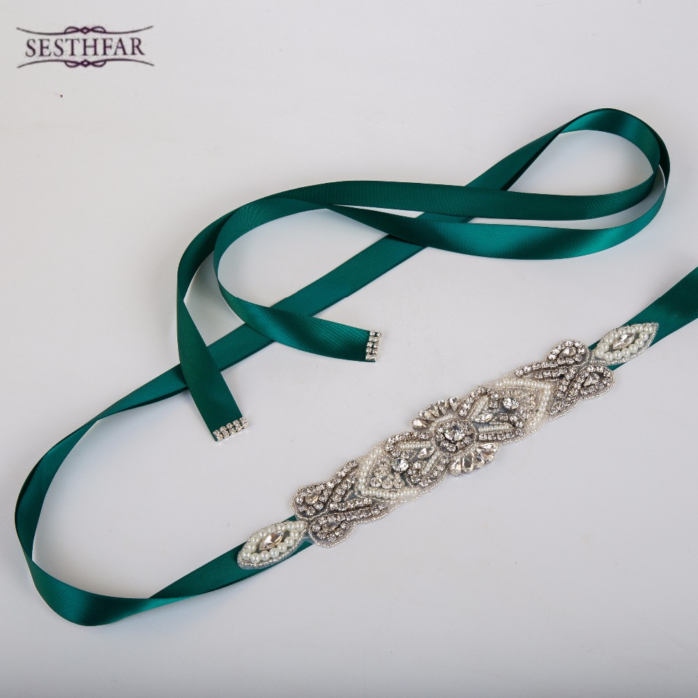 Bridal Sash font b Belt b font Vintage Floral Crystal Rhinestone Bride Bridesmaid Dress font b