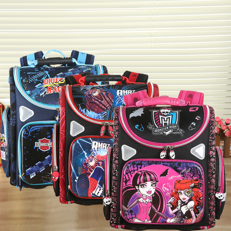 New top quality children's Backpack butterfly monster high sipderman palne EVA folded orthopedic School bag for boys girls игра для xbox медиа monster high new ghoul in school