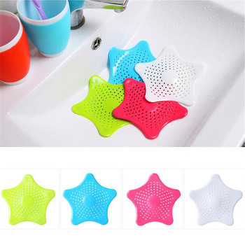 1pc Sewer Star Outfall Strainer For Kitchen Waste Bathroom Sink Filter Anti-blocking Floor Drain Hair Stopper Catcher Accessorie kitchen bathroom anti clogging bath shower cover sink sewer filter floor sink drain strainer hair catcher stopper r30