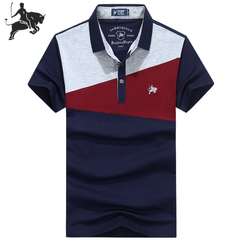 2019 Summer new arrival short sleeve   Polo   Shirt Men cotton brand design Embroidery plus size XXXL homme camisa mens tops & tees