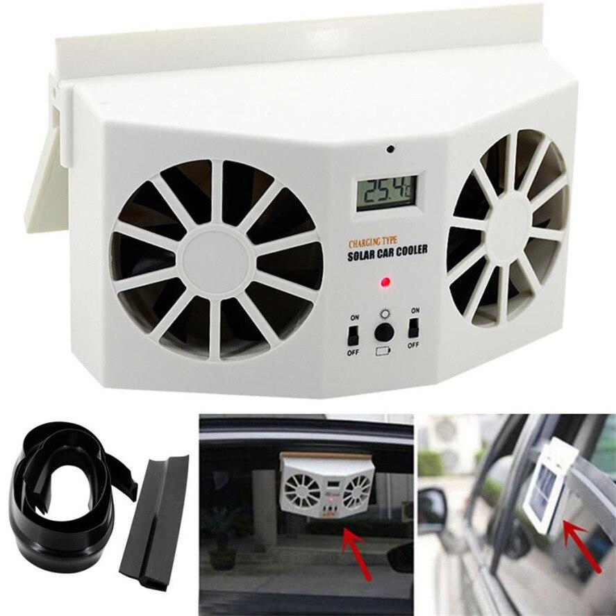 3 Vent Solar Car Window Mount Fans Ventilator Cooling Air Circulator 4W White 1x