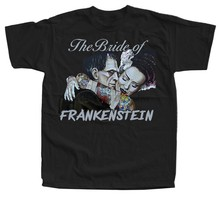 The Bride of Frankenstein V48 movie poster T-Shirt (REDBLACK) ALL SIZES S-5XL Men High Quality Tees top tee Solid Color(China)