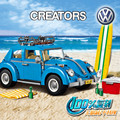 New Creator Series City Car Volkswagen Beetle model Building  Blocks Compatible legoed 10252 LEPIN 21003  Blue Technic Car gift