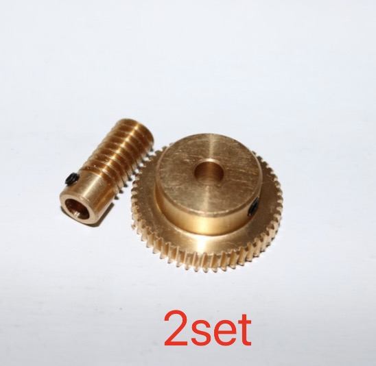2set 0 5M 50T Worm Gear High Speed Reduction Ratio 1 50 Remote Control Toys Steering