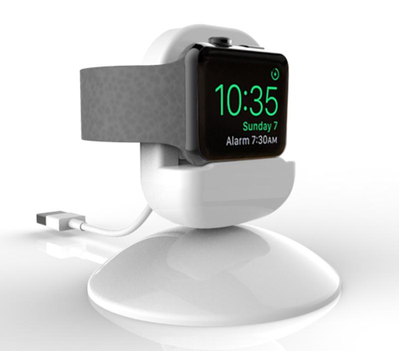Prix pour URVOI nouvelle arrivée titulaire pour apple watch stand titulaire réparation gardien PC accueil de charge dock pour WatchOS 2 Table de Chevet mode 2 couleurs