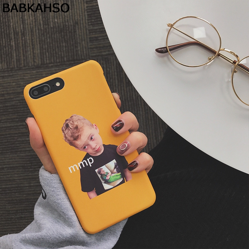 BABKAHSO Cute boy Case For iPhone 6 6Plus X 7 7PLUS 8 8Plus Capa Fundas Coque protective cover Hard