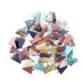 Comercio al por mayor de Moda de Cuarzo Natural Piedra Colgante Trianqle Péndulo Para Joyería Collares de Moda Al Por Mayor 50 UNIDS Envío Gratis