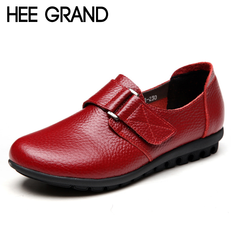 HEE GRAND Genuine Leather Loafers Slip On Creepers 2017 Casual Platform Shoes Woman Flats Autumn Winter Moccasin XWD4584 hee grand 2017 creepers summer platform gladiator sandals casual shoes woman slip on flats fashion silver women shoes xwz4074