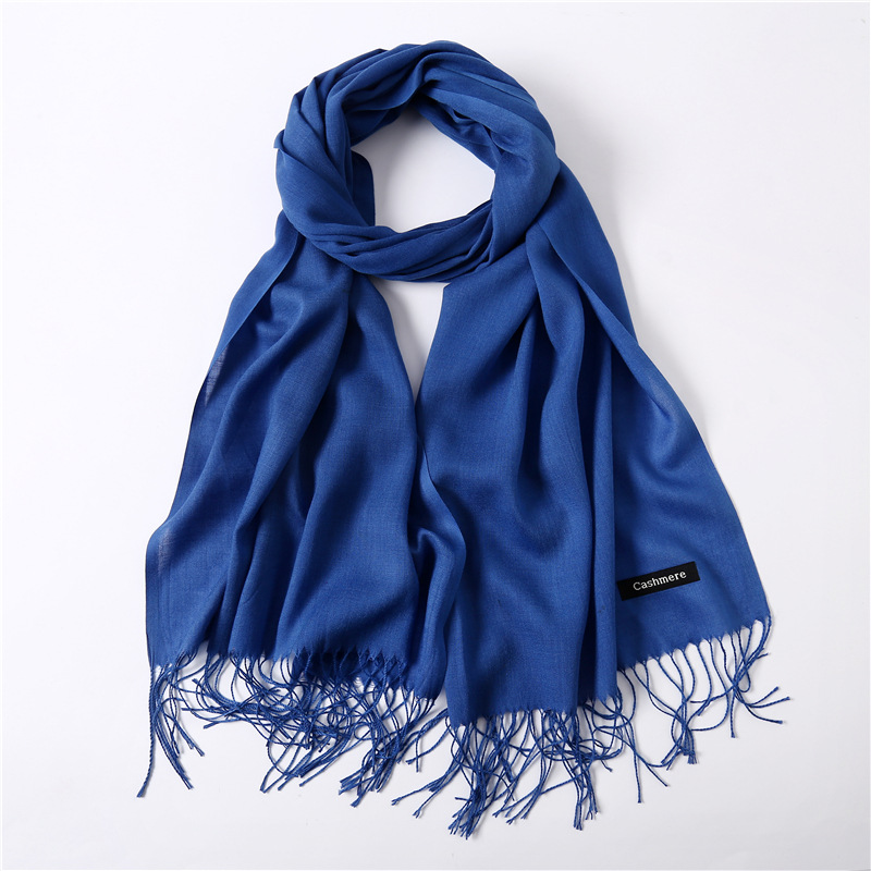 2019 New Women's Cashmere   Scarf   Warm Spring   Scarves   Large Solid Tassel Female Shawl   Wrap   Ladies High Quality Pashmina Hijabs