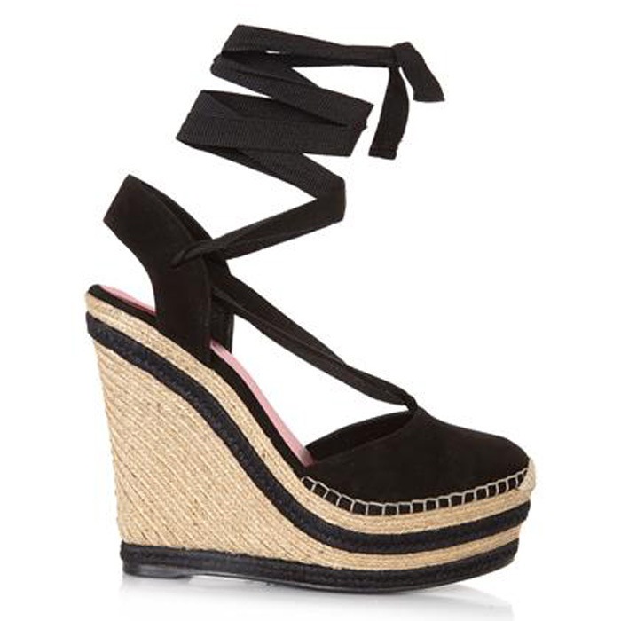a96fed25c741 Luxury Stripe lace up espadrille wedge sandal women genuine leather high  heel platform sandals plus size-in Women s Sandals from Shoes on  Aliexpress.com ...