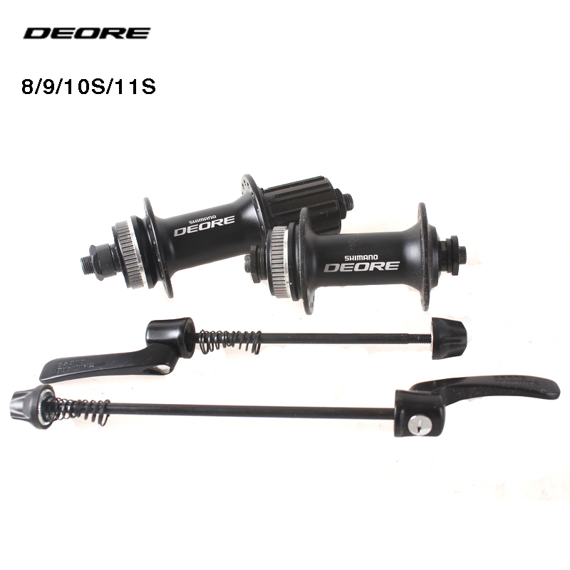 SHIMANO DEORE M615 32H Center Lock MTB Bicycle Hub Bike Disc Hub front & rear 9mm Quick Release genuine shimano deore m615 32h center lock bicycle hub front