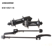 SHIMANO DEORE M615 32H Center Lock MTB Bicycle Hub Bike Disc Hub front & rear 9mm Quick Release