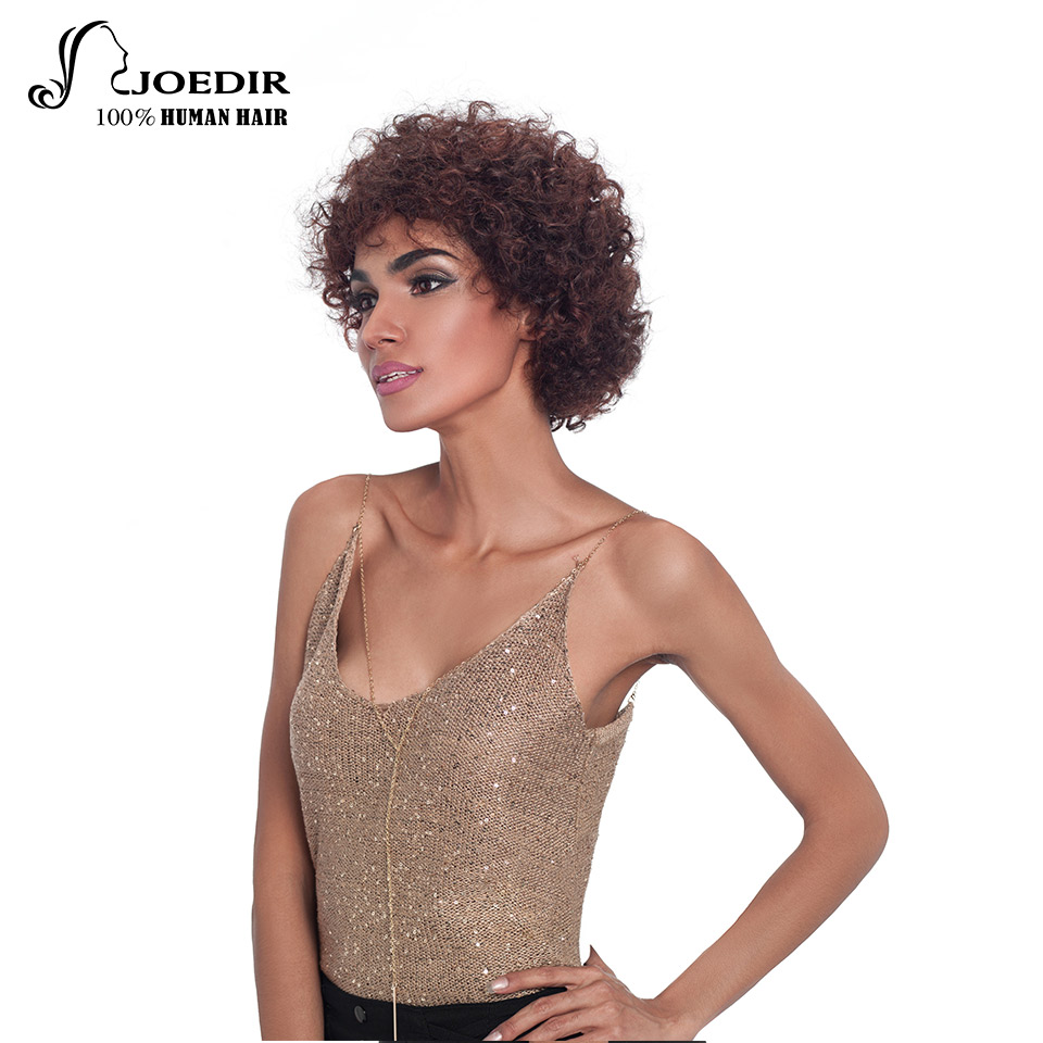 Joedir Mänskliga Hårperor Brasilianska Remy Hair Bouncy Curl Style - Skönhet och hälsa - Foto 4