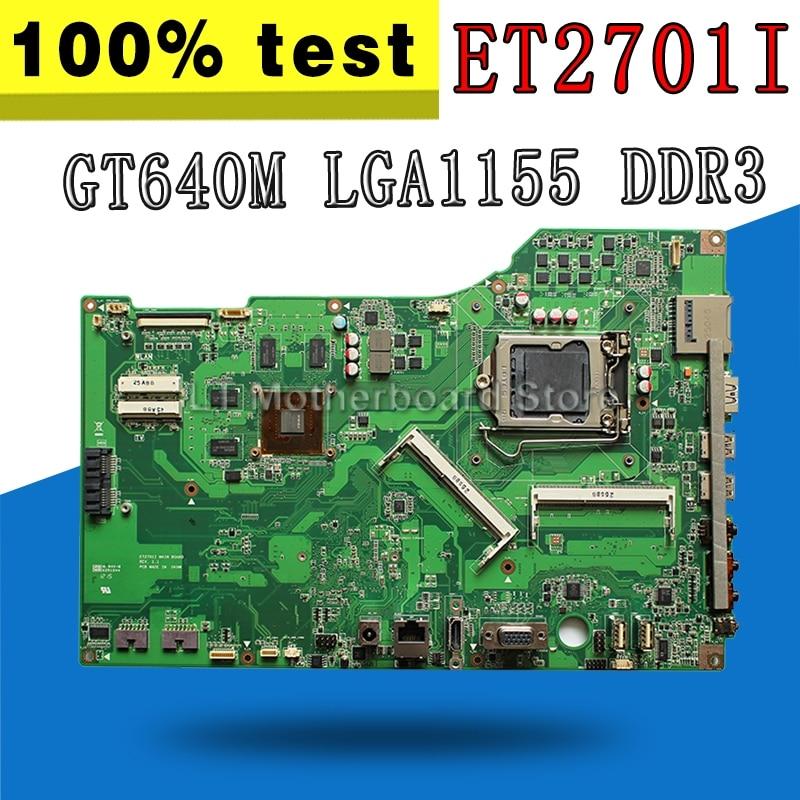 D'origine Pour ASUS carte mère ET2701I ET2701 de bureau carte mère GT640M LGA1155 DDR3