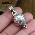 925 Sterling Silver Vintage Buddhist Eight treasures box Pendant Necklace Jewelry For Men & Wonmen Punk Thai Silver Faith