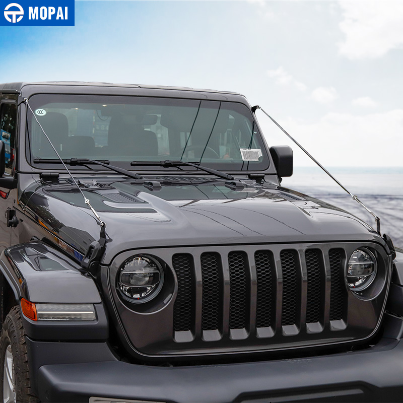 Image 4 - MOPAI Styling Mouldings for Jeep Wrangler JL 2018 Car Hood Latch Lock Obstacle Eliminate Rope for Jeep JL Wrangler Accessories-in Styling Mouldings from Automobiles & Motorcycles