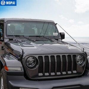 Image 4 - MOPAI araba kaput mandalı kilit engel ortadan kaldırmak halat aksesuarları Jeep Wrangler JL 2018 + için gladyatör JT 2018 +
