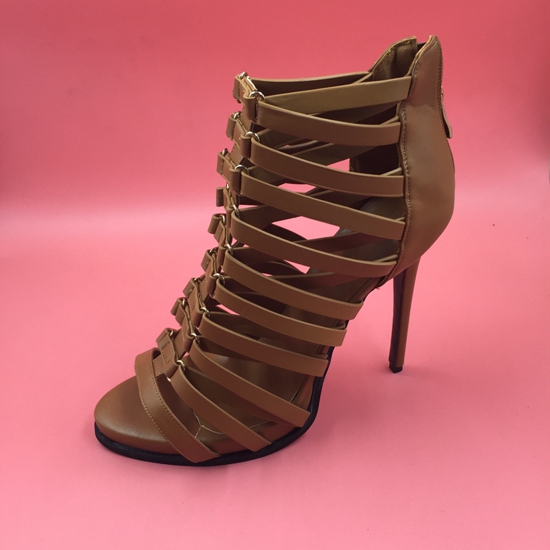 Online Buy Wholesale brown gladiator heels from China brown