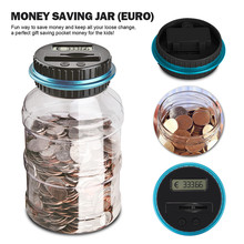 Electronic Piggy Bank Counter Coin Digital LCD Counting Coin Money Saving Deposit Tools Coins Storage Box For USD EURO Money special offer dh48ss electronic counting relays counter preset