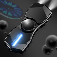 Fidget Spinner LED Stove Wire Lighter Hand Spinner Light USB Windproof Lighters Fidget Spinner Cigarette Accessories