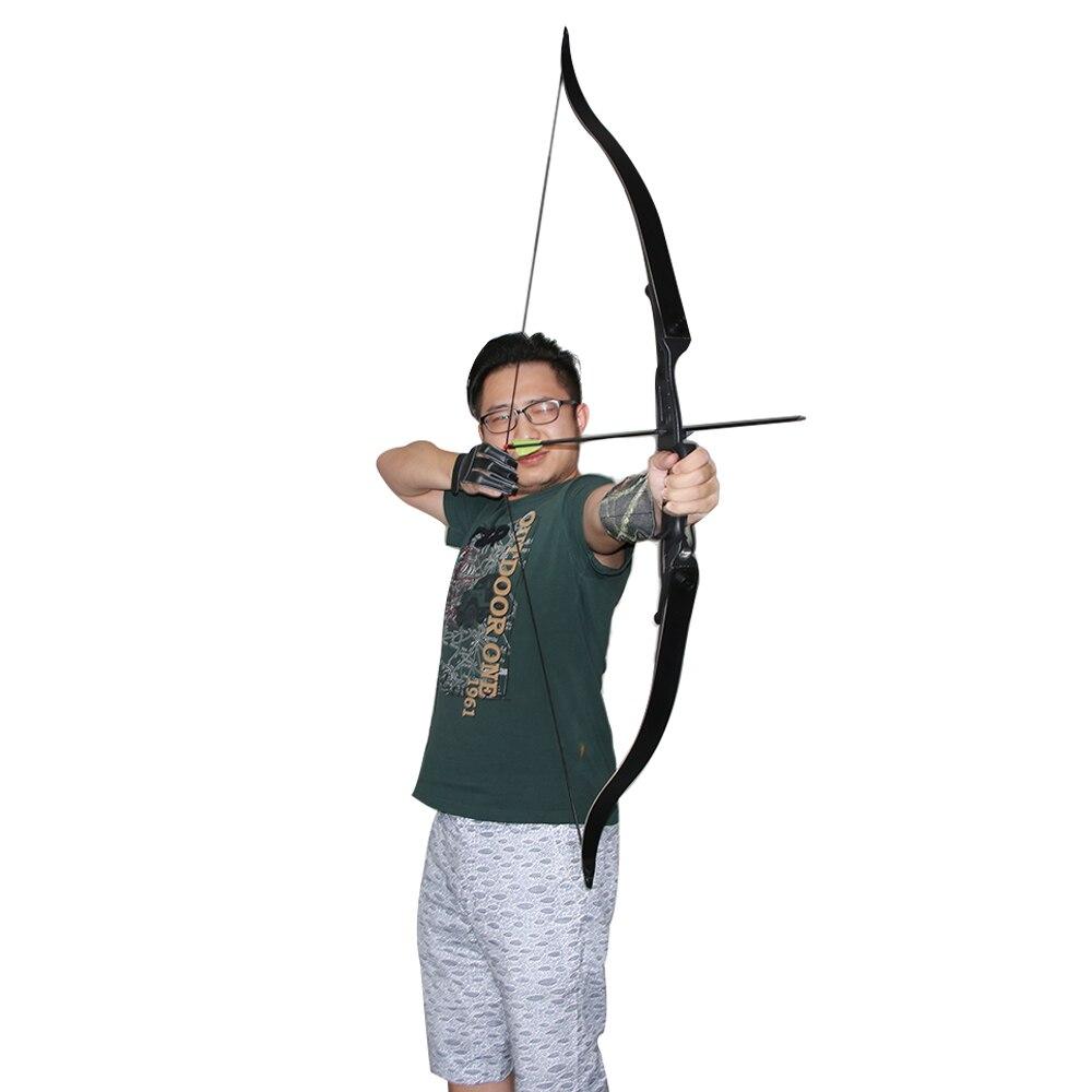 40lbs tir à l'arc traditionnel fournit la combinaison détachable arc classique chasse arc fronde main droite pour l'entraînement de tir